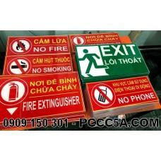 Bảng báo phòng cháy chữa cháy mica